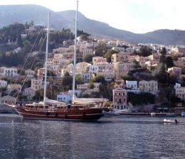 yacht in greek islands