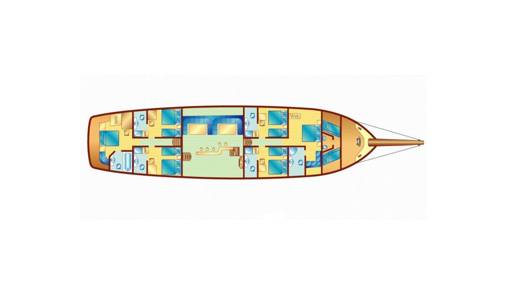 31-m-charter-gulet layout
