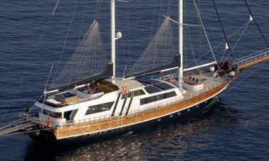 Classic Turkish motor sailer yacht