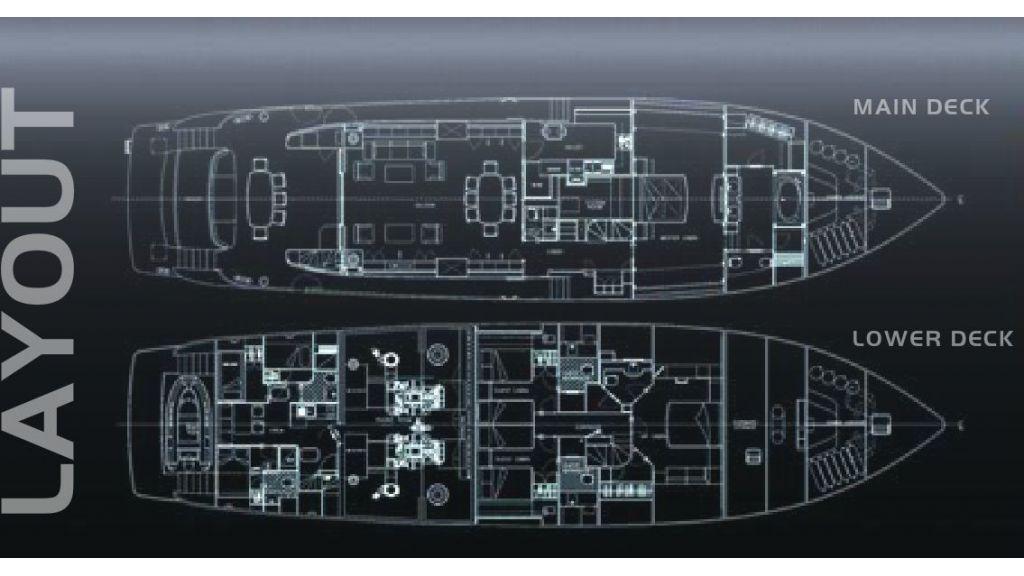 Composite Grp Motoryacht - Layout