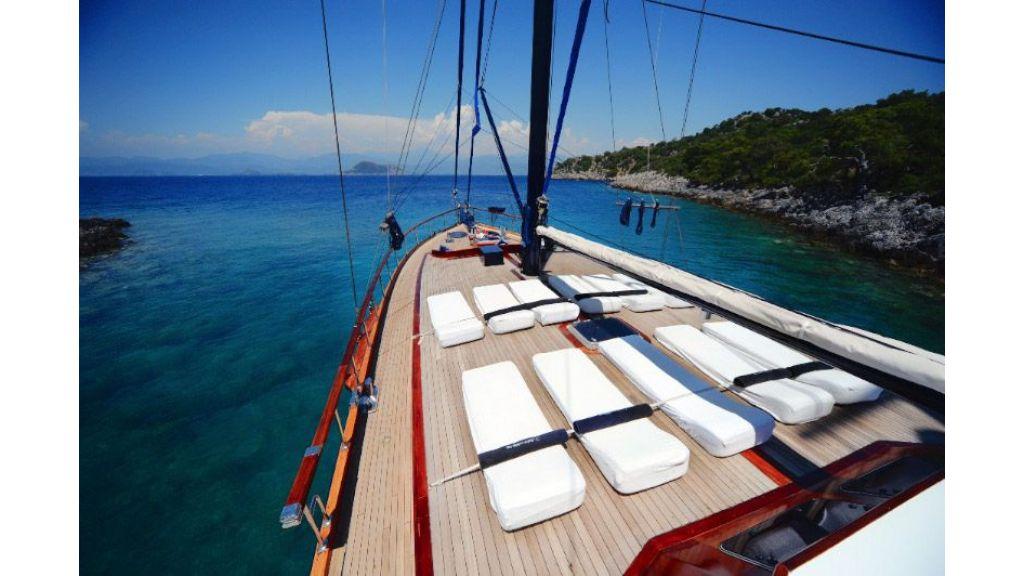 Mahogany built gulet  deck