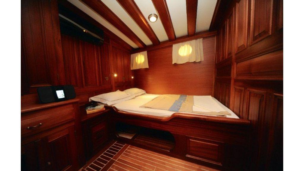 Mahogany built gulet double cabin