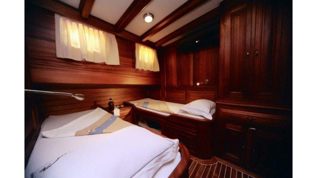 Mahogany built gulet twin cabin