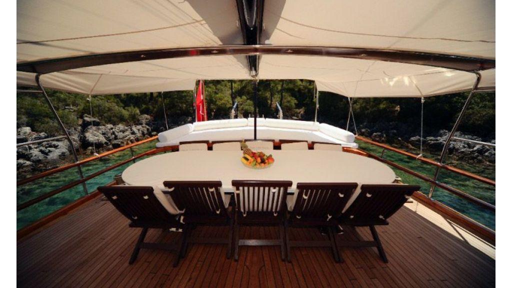 Mahogany built yacht