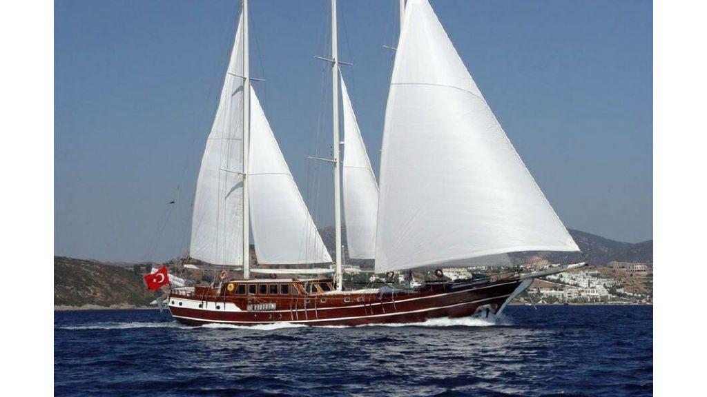 Three masted Motor sailer