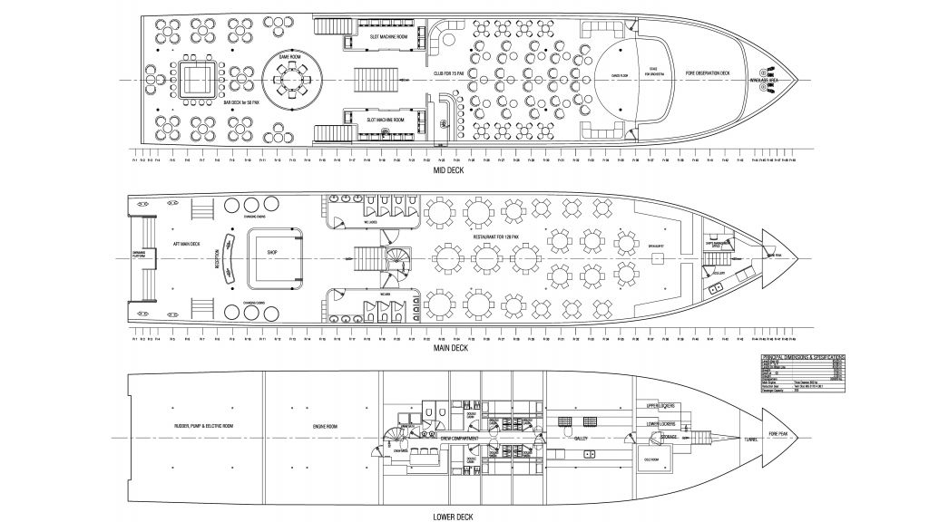 Daily Cruise Party Ship (0) Layout - 1