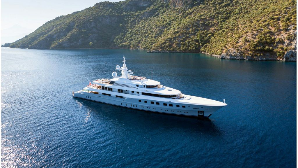 Mega-yacht for sale master
