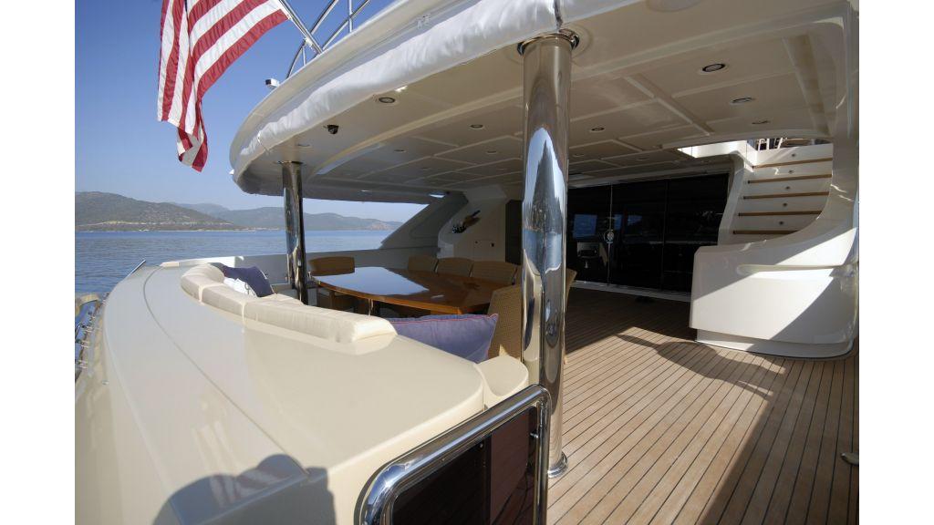 Steel motor yacht master