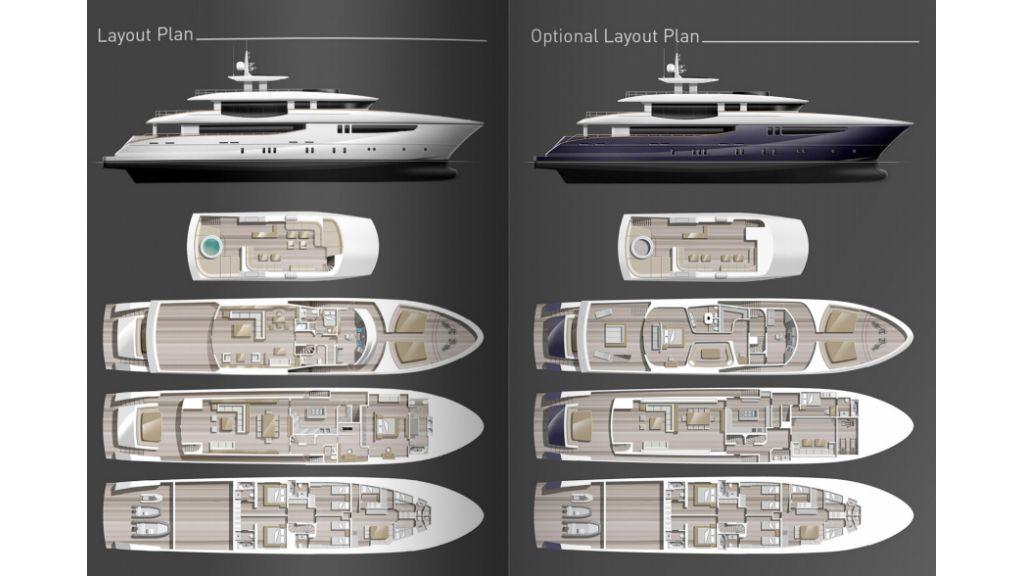 42.5 m steel motoryacht.