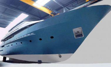 Steel-Aluminium-Motoryacht