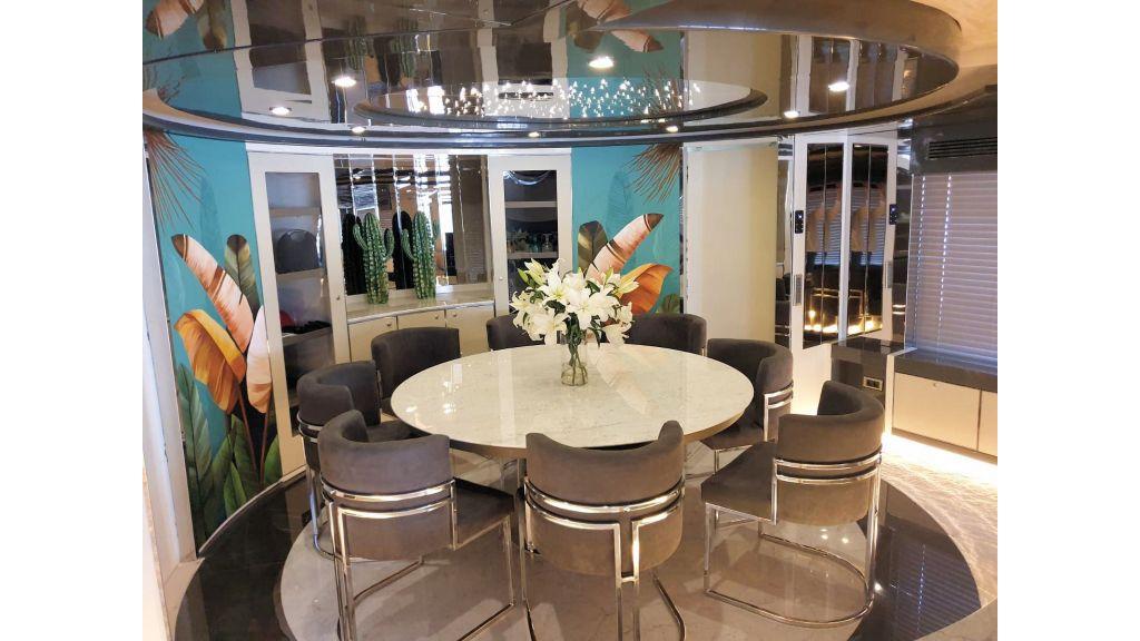 Vetro Motor Yacht Main Saloon Dining 62
