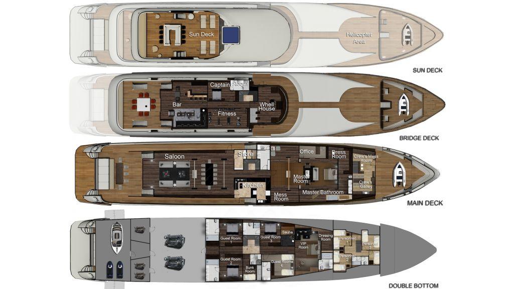 Megayacht-plan