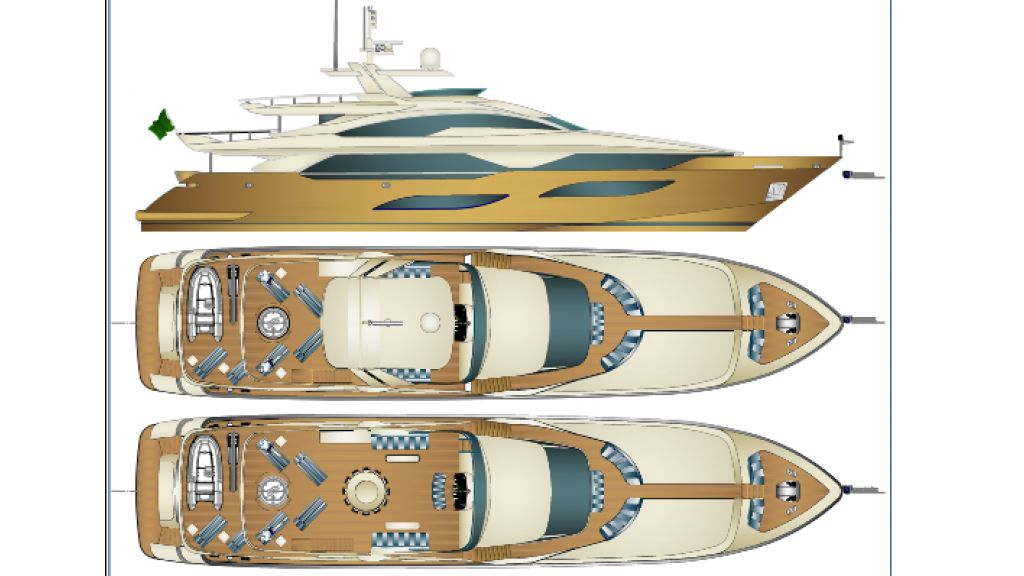 40 m Sunseeker replica yacht