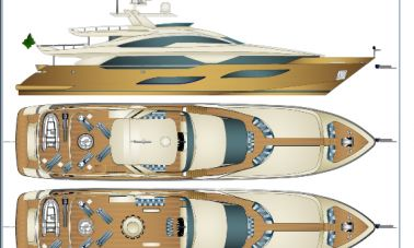40 m Sunseeker replica yacht