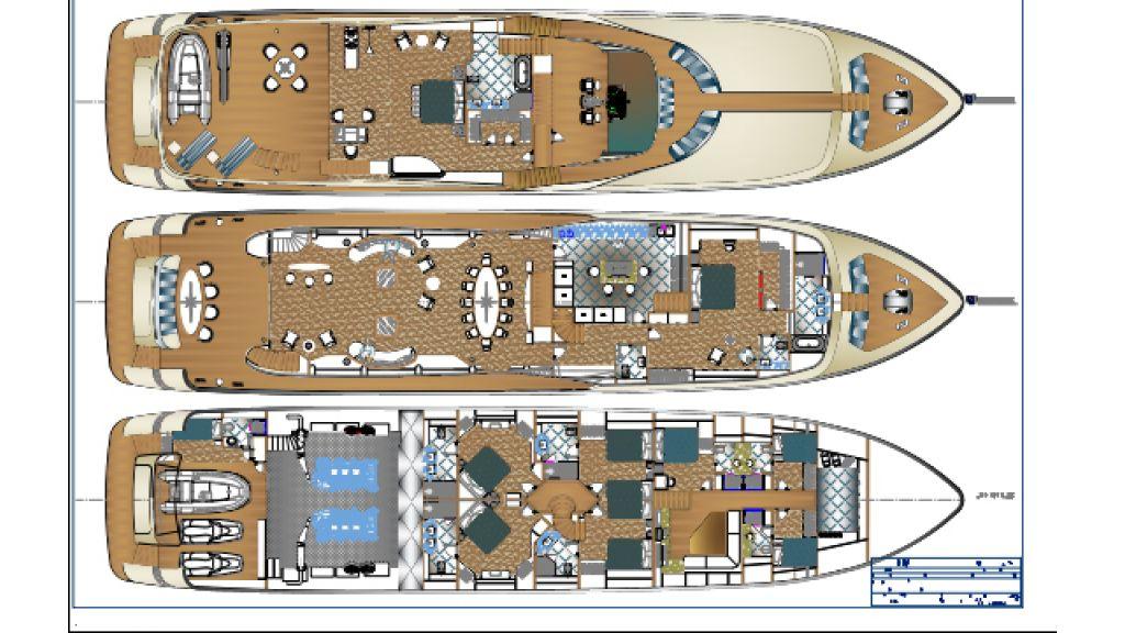 40 m Sunseeker replica yacht,