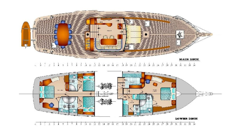 Classic Schooner for Sale Plan Layout 2