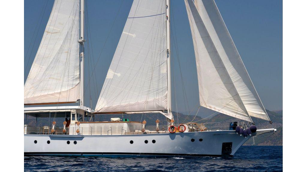 Classic Schooner for Sale Sailing (2)