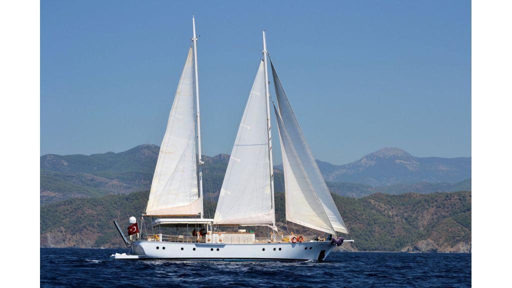 Classic Schooner for Sale Sailing (3)
