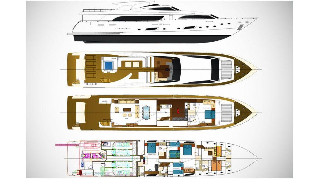 Motor Yacht Panfeliss Layoute