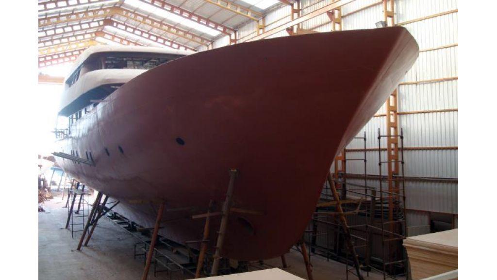 Steel motorsailer Yacht