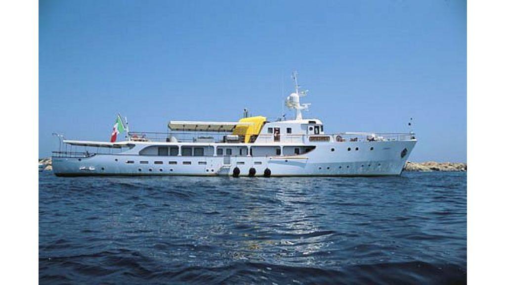 Sophisticated luxury yacht