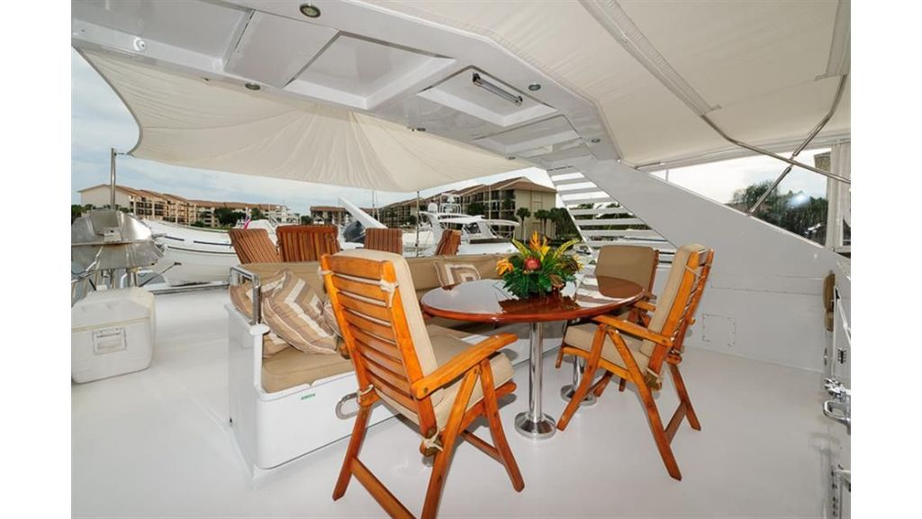 broward Flybridge Table and Awning2