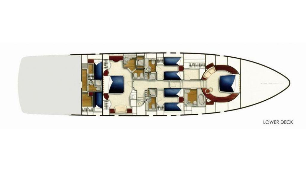 27 M CUSTOM MOTORYACHT - layout
