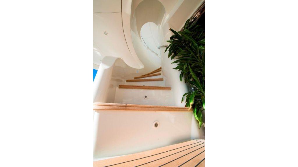 Motor Yacht Aktobe Stairs
