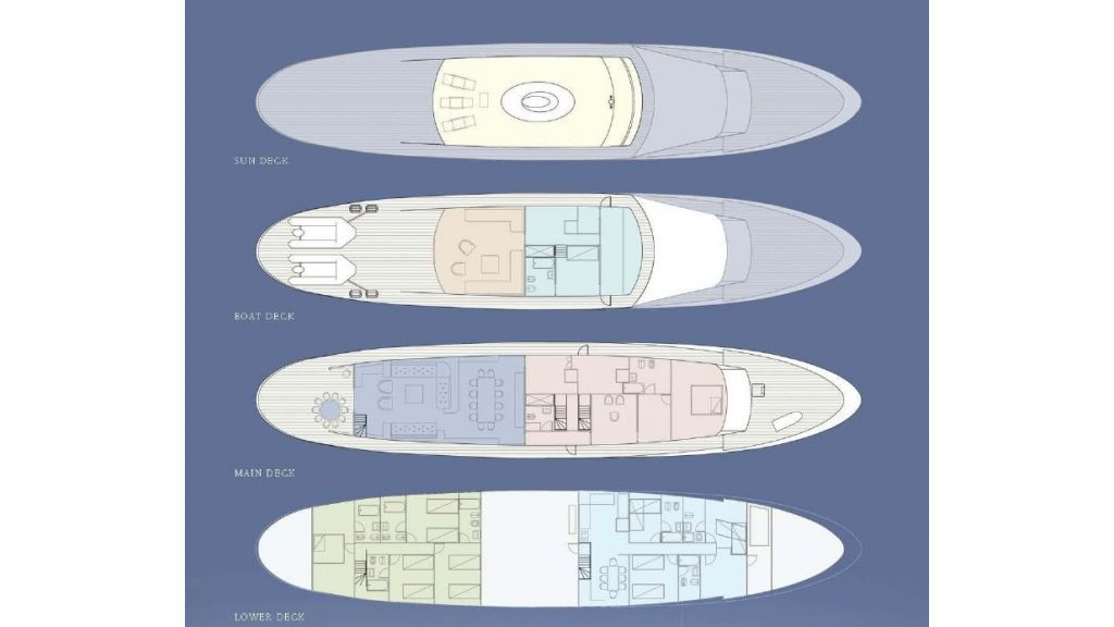 Motor Yacht Intuition Lady Layout