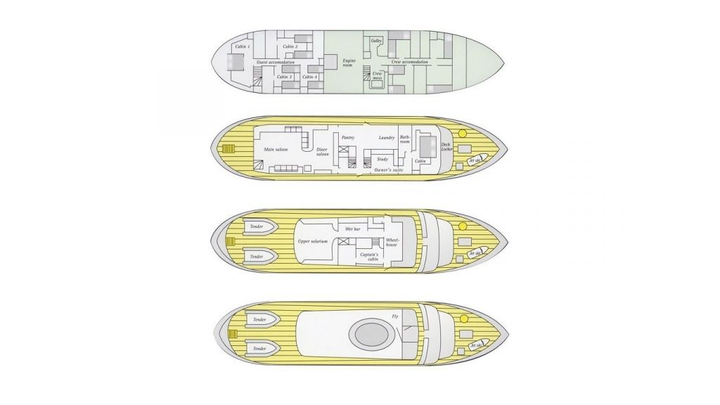 Motor Yacht Intuition Lady Layout Plan