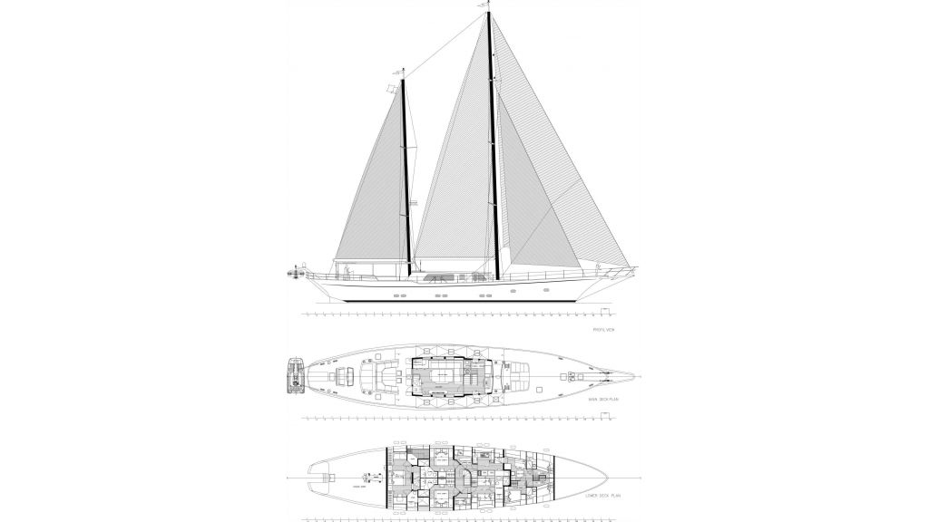 Sailing Yacht Moss Layout