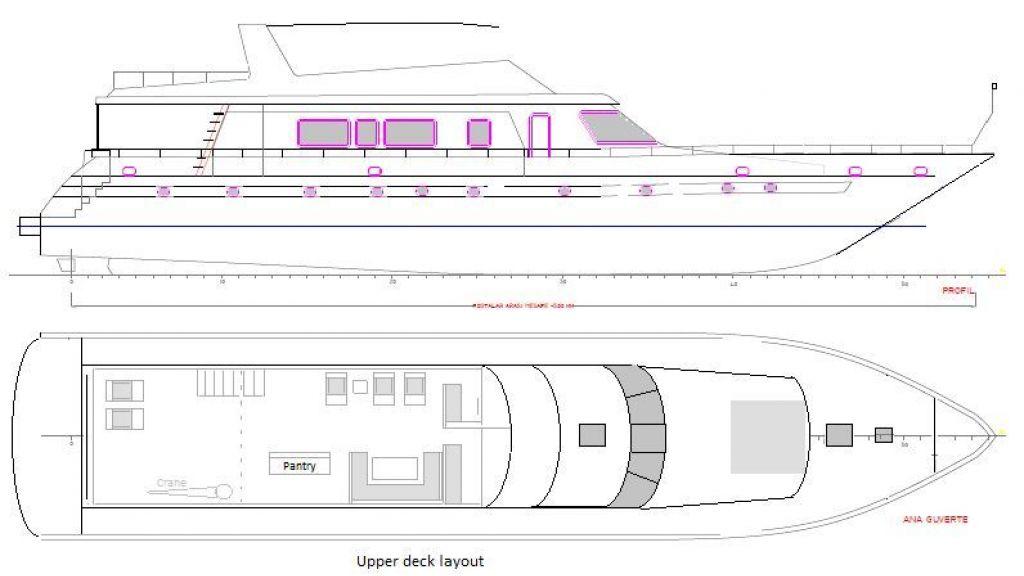 Luxury Motoryacht Layout - 1