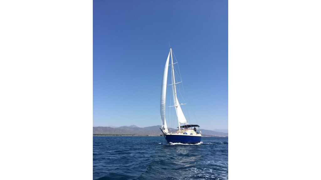 Steel Sailing Yacht sailing