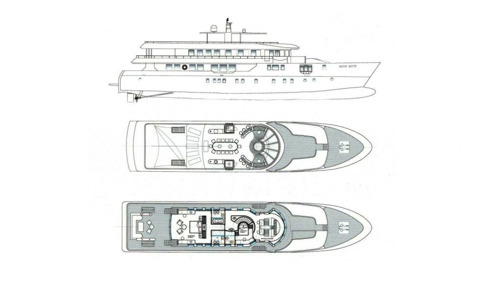 Motoryacht With Heliped