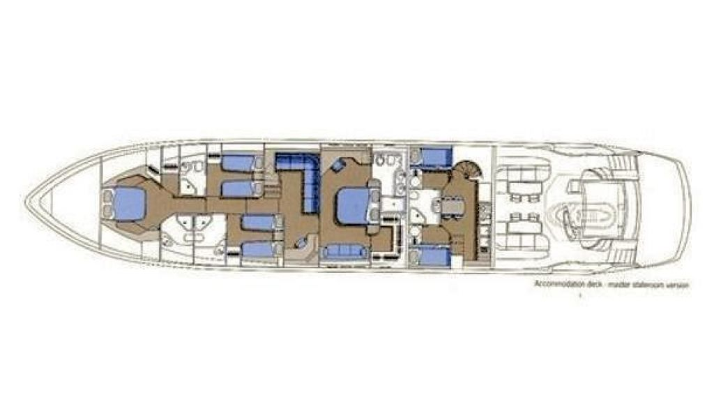 Sunseeker Predator 108 (24) - layout