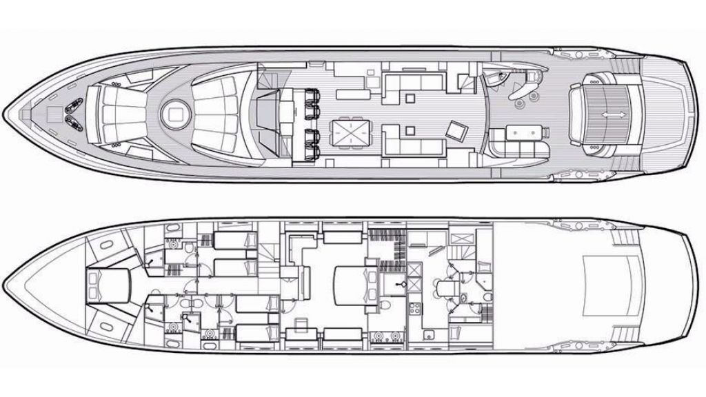 Sunseeker Predator 108 (25) - layout