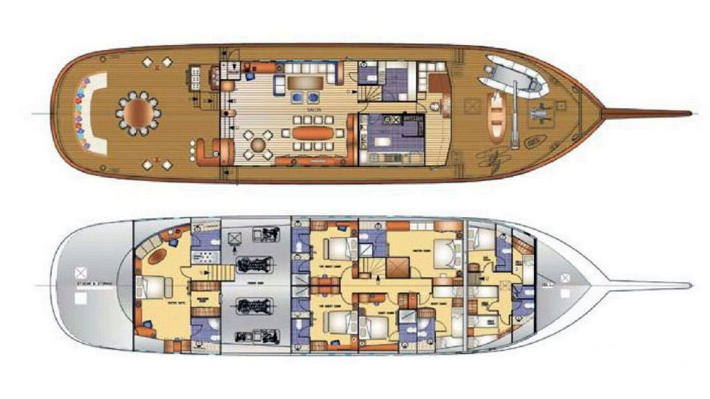 Steel Schooner layout