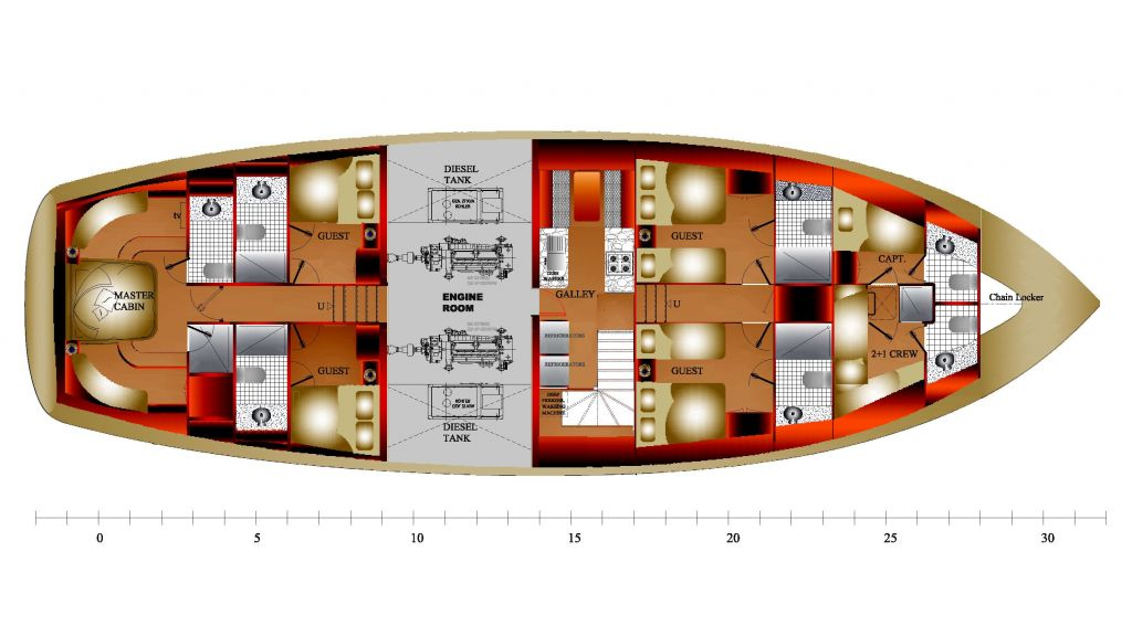 steel-hull-motorsailor-accommodation-deck