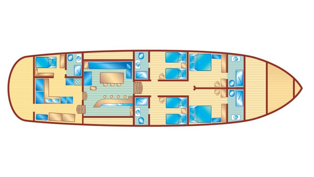 Deluxe Class Gulet (15) - layout