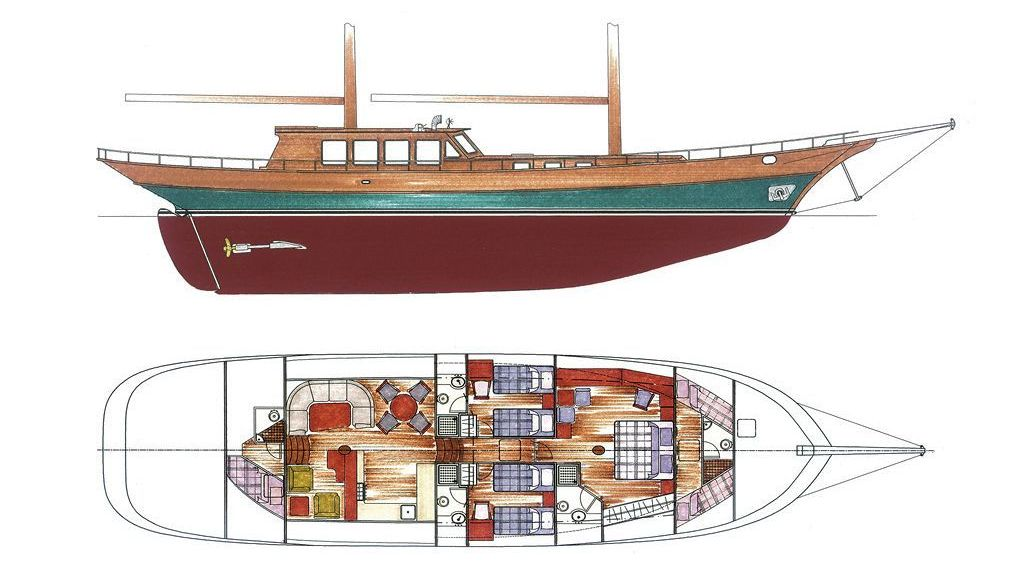 Steel Hull Ketch Rigged (21) - layout