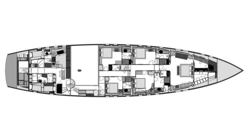 Superior Quality Motor Sailer layoute plan