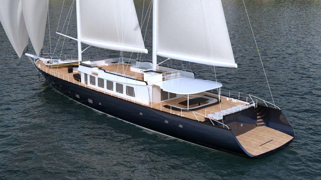 50m Steel Sailing Yacht (1)