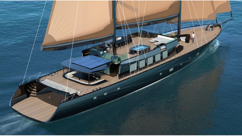 luxury Steel Sailing Yacht