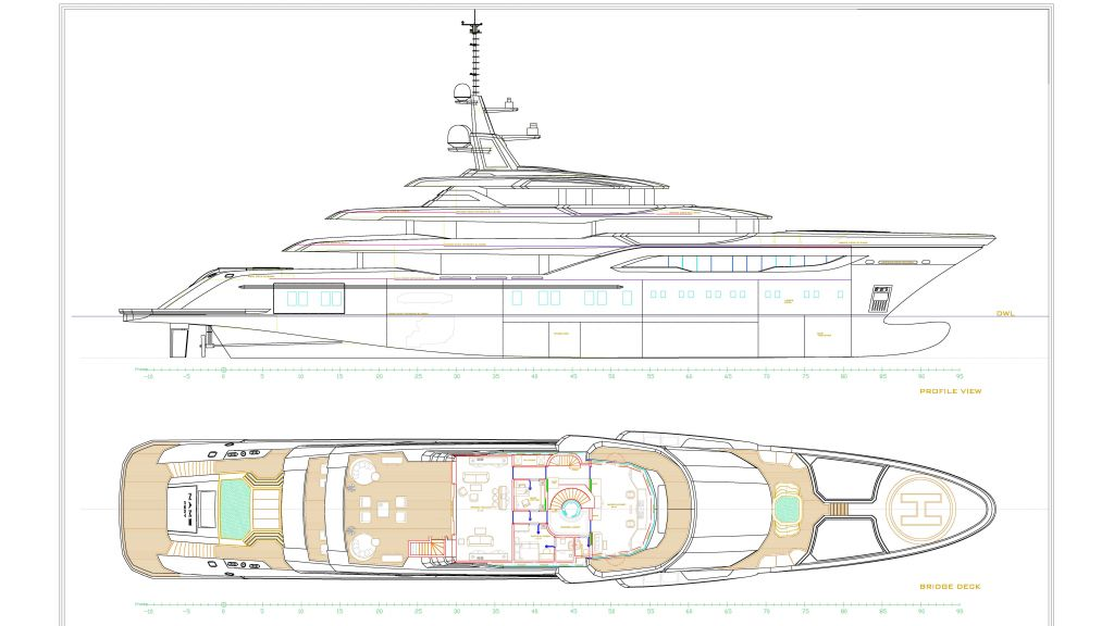 74m Mega Yacht in Construction (11) - Layout A