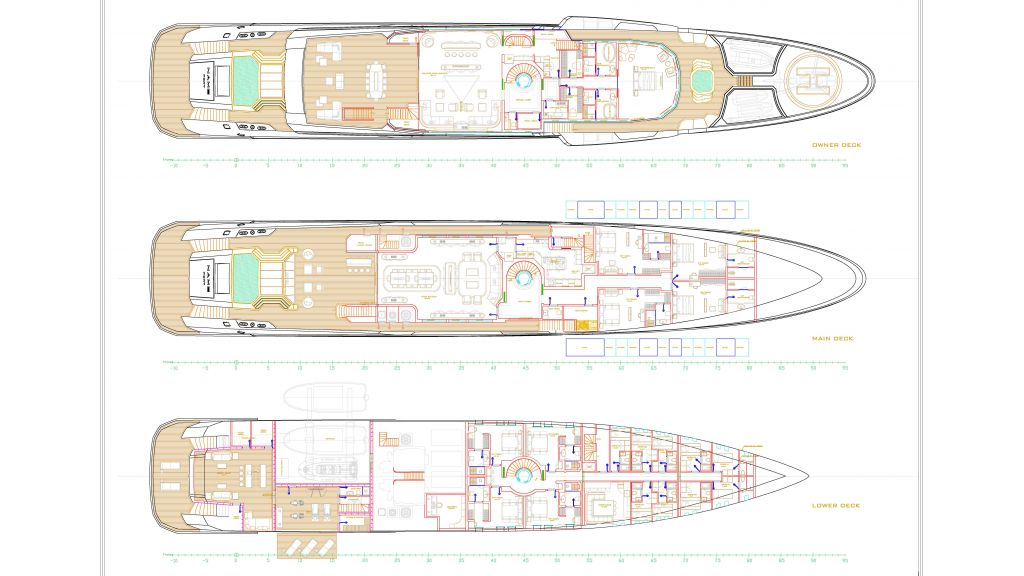 74m Mega Yacht in Construction (11) - Layout B