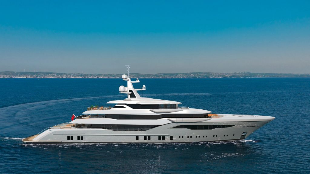 74m Mega Yacht in Construction (2) - master