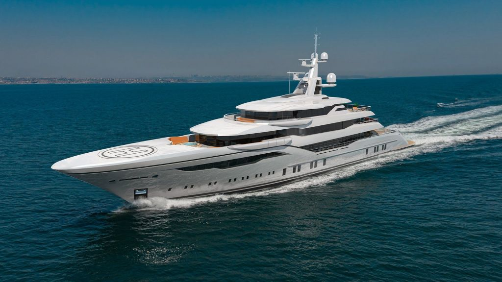 74m Mega Yacht in Construction (7) - master